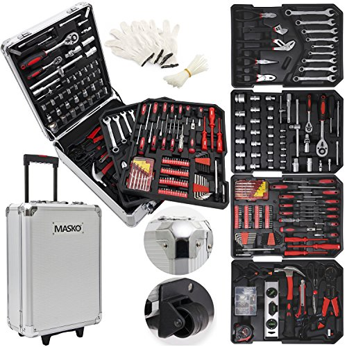Masko 725 Werkzeugkoffer Werkzeugkasten Werkzeugkiste Werkzeug Trolley  Profi  725Teile...