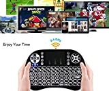 #3: Sufi World i8 Mouse Multi-Media Portable Handheld Blacklight Mini Wireless 2.4G LED Backlight i8 Keyboard with Touchpad for Google Android TV Box,HTPC,IPTV,PC,Mac,Pad,Xbox 360,PS3