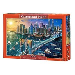 Castorland New York-Brooklyn Bridge 500 pcs Puzzle - Rompecabezas (Puzzle Rompecabezas, Ciudad, Niños y Adultos, Niño/niña, 9 año(s), Interior)