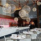JHSUI Pendelleuchte Moderne minimalistische Kronleuchter/Edelstahl Anhänger/kreative Funke Funke LED Kugel Lampen/Esszimmer Zimmer Kronleuchter, Diameter 800mm