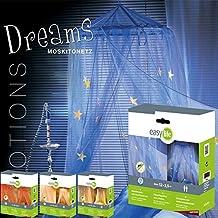 Mosquitera DREAMS con Estrellas de luz 12,5x2,5m Marquesinas de cama Dosel Red de mosquito - Azul