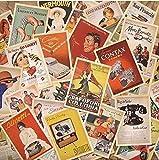 Monkeybrother 32 Stk. Vintage alte Europa Poster Reise Postkarten