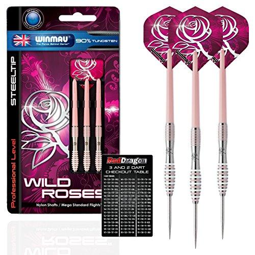 winmau-wild-rose-22-g-flechettes-90-en-acier-tungstene-avec-ailettes-tiges-etui-et-carte-de-paiement