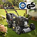 BRAST Benzin Rasenmäher incl. Selbstantrieb 3,7kW(5PS) GT Markengetriebe kugelgelagerte Big-Wheeler-Räder Stahlblechgehäuse Easy Clean 173ccm Motor