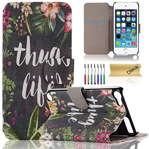 iPod Touch 5/6Fall, dteck (TM) Süßes PU-Leder Ständer Wallet Magnet Case [Karten/Geld Halter] Flip Zusammenklappbar für Apple iPod Touch 5. 6. Gen 10,2cm, 2 Thug Life