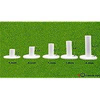 Juego de 5 tees de goma de golf para la conducción, diferentes tamaños, Mix Pack(1.5,2.25,2.75,3,3.13)