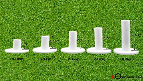 Finger Ten Juego de 5 Tees de Goma de Golf para la conducción, Diferentes tamaños, Mix Pack(1.5,2.25,2.75,3,3.13)