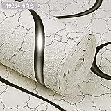 LIUXINDA-BZ Schön und praktisch zugleich Modernes, minimalistisches Vlies Tapete Schlafzimmer 3D-europäischen Tapete Wohnzimmer TV Hintergrund Wand Papier, Weiß