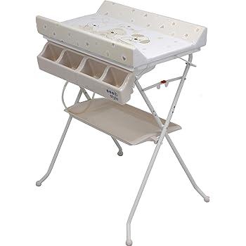 Ib Style Table à Langer Pliable Avec Baignoire Commode Avec