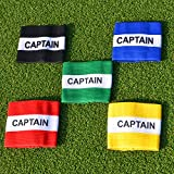 Captains Armband (Junior & Senior Sizes) (Selection Of Colours) - Suitable For Multiple Sports Including Football & Rugby [Net World Sports]