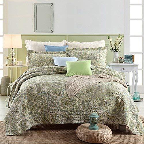 Gestreift Jacquard Style 3-teilig 100% Baumwolle Patchwork Queen Quilts und Tagesdecken (Red Butterfly King-bett Quilt)
