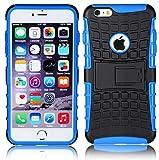 JAMMYLIZARD Outdoor Hülle für iPhone 6 / 6s | Schutzhülle [Alligator] Doppelschutz Handyhülle Hardcase aus Polycarbonat & Silikon TPU Backcover Case Cover, BLUE