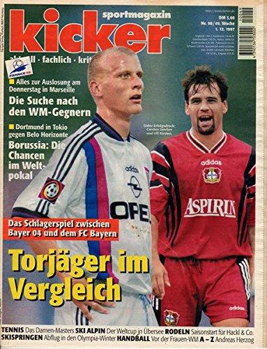 Kicker Sportmagazin Nr. 98/1997 01.12.1997 Torjäger im Vergleich