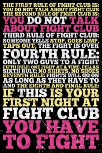 Fight Club Rules stampata