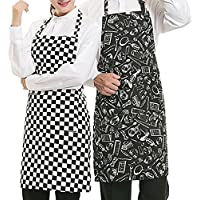 WARRAH Man Woman Couple Professional Bib Apron