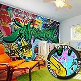 Fototapete Street Style Wandbild Dekoration Graffiti Art Writing Pop Art Schriftzüge Wall Painting Mauer Urban Abstract Comic  Foto-Tapete Wandtapete Fotoposter Wanddeko by GREAT ART (336 x 238 cm)