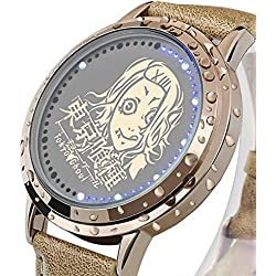 Sunkee New Tokyo Ghoul JUZO SUZUYA LED Touchscreen Electronic clock Waterproof cosplay watch