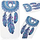 WeLoveCase Samsung Galaxy J3 PRIME Case, Premium Ultra Slim Thin Silicone Flexible Quality TPU Soft Pattern Design Cute Clear Cover, Gel Plastic Protective Shock Absorption Proof Drop Defend Anti Scratch Shell for Samsung Galaxy J3 PRIME - Windmill