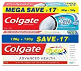 #3: Colgate Toothpaste Variety Pack (Total Advanced Health Saver Pack - 240 g, Colgate Active Salt Saver Pack - 300 g)