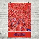 Moskau Poster, Moskau Kunstdruck, Moskau Wandkunst, Moskau Karte, Moskau Stadtplan, Moskau Russland Stadtplan Kunst, Moskau Geschenk, Moskau Dekor, (12
