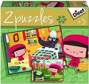 Diset - 69961 - Puzzle - Contes Chaperon 2x20 - Rouge