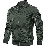 KEFITEVD Men's Casual Baseball Jacket Summer Thin Bomber Cargo Jackets Sport Coats with Zipper Pockets