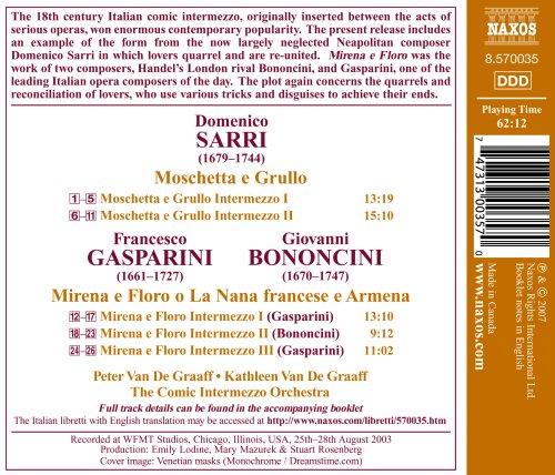 Sarri, Gasparini, Bononcini: Italian Intermezzi