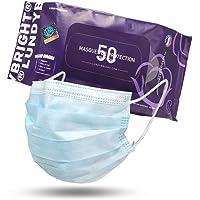 LundyBright 50 Mascherine chirurgiche dispositivo Medico di classe I CERTIFICATO CE 3 strati BFE≥95% standard EN 14683…