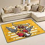 Yibaihe Leicht Bedruckt Bereich Teppich Teppich Fußmatte Bumblebee Tragen Boxhandschuhe für Wohnzimmer Schlafzimmer 3'x 2', 100% Polyester, Multi, 183 x 122 cm(6'x 4')