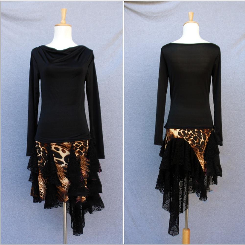 CO&CO Danza Set internazionale adulti leopardo di ballo delle donne latine Gonna (un formato)