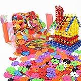 Ruiting Creativi bambini Flakes 100 pezzi ad incastro in plastica Set di dischi per divertimento creativo edificio educativo STAM giocattolo di costruzione per ragazzi e ragazze