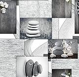 Meterware Wachstuch grau Größe 140 cm breit