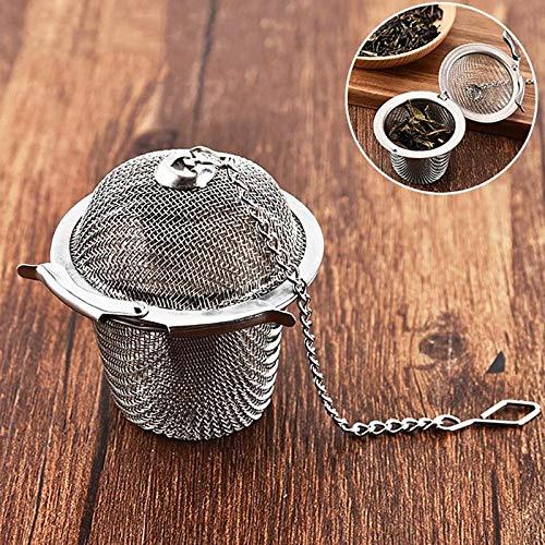 Preisvergleich Produktbild Wiederverwendbarer rostfreier Tee-Gewürz-Sieb-Netz-Kräuterball-Teekessel,  der Teefilter-Infuser-Gewürz-Tee-Zusatz