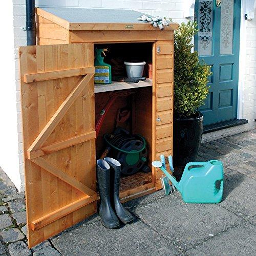 618klQw4%2BWL. SS500  - Mini Wooden Store Small Outside Storage Unit with Shiplap Cladding