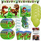 Procos Arlo und Spot Pixar Party Set XL 67-Teilig für 6 Gäste The Good Dinosaur Geburtstag Deko Partypaket