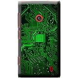 Carte mère Circuit Ordinateur Close Up Coque rigide pour téléphone portable, plastique, Green Memory Technology Board, Nokia Lumia 520