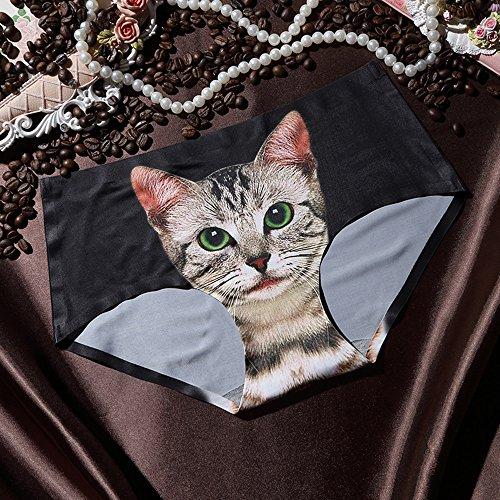 WEINISITE Damen schöne Schöne 3D-Katzen Druck Schlüpfer-reizvolle Unterwäsche für Damen #5