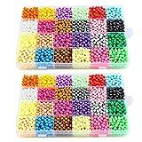 dae0da6c280d Aquabeads Abalorios Cuentas de agua 3600 perlas 24 colors Hama Beads para  Niños