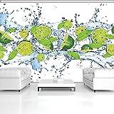 DekoShop Fototapete Vlies Tapete Vliestapete Moderne Wanddeko Wandtapete Wand Dekoration Frische Limetten AMD288V4 V4 (254cm. x 184cm.) Wallpaper Tapetenkleister und Überraschungsaufkleber Gratis