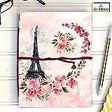 ALDIVO Eiffel Tower Print Handmade Diary/Notebook, 12.7x17.78cm (Pink)