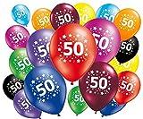 20Stück Luftballons Geburtstag 50Jahre