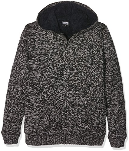 Urban Classics Ladies Winter Knit Zip Hoody Felpa jogging donna nero/grigio XS