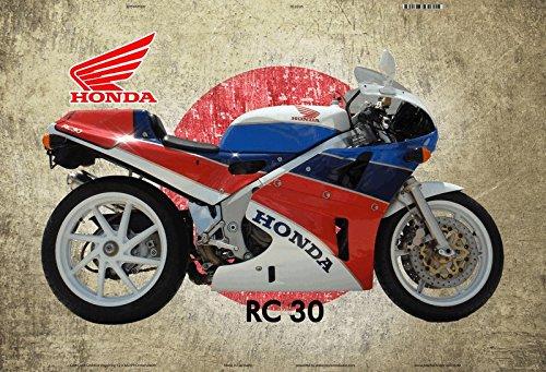 Honda RC 30 Japan motorrad blechschild (Honda Motorrad Blechschild)