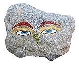 Buddhas Augen auf Granit Stein bemalt ´Buddha Eyes´ Unikat