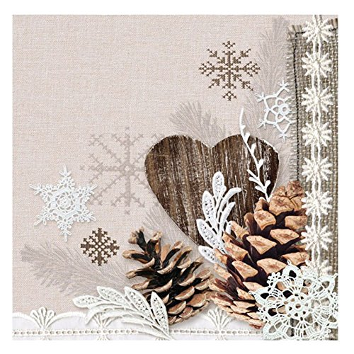 Servietten 33 x 33 cm Napkin Winter Nature 3-lagig 20 Stück