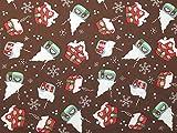 Minerva Crafts Weihnachten Schnee Häuser Print Baumwolle