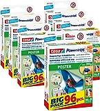 tesa Powerstrips POSTER/Doppelseitige Klebestreifen für Poster, Plakate und leichte Schilder bis 200g - wieder ablösbar und mehrfach verwendbar/Bigpack / 7 x 96 Stück (1 Vorrats - Karton)