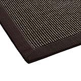 BODENMEISTER Sisal-Teppich modern hochwertige Bordüre Flachgewebe, verschiedene Farben und Größen, Variante: dunkel-braun, 60x110