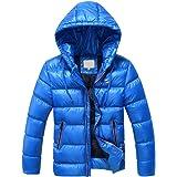 Phorecys Abrigo de algodón grueso con capucha para niños grandes de 5 a 13 años