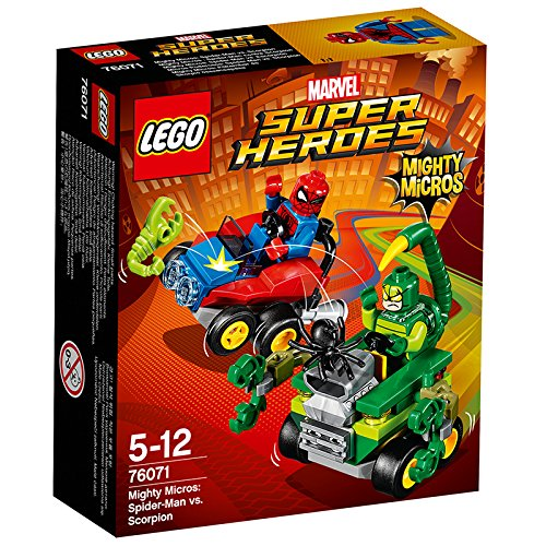 "Image of LEGO 76071 ""Mighty Micros Spider-Man vs Scorpion"" Building Toy"